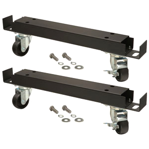 2 Channel Bars with 4 Casters