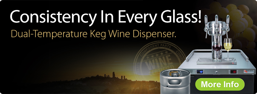 Wine on tap, Wine dispensing, Wine kegerator