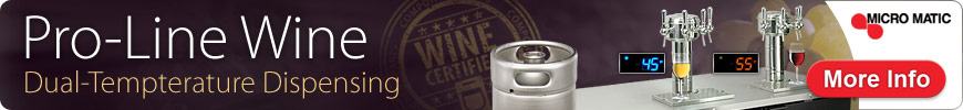 Pro-Line Wine Dual Temperature keg wine dispensing