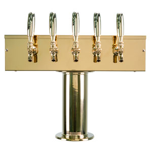 """T"" Style Tower - 5 Faucets"