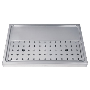 "15-3/4"" Stainless Steel Drip Tray without rinser"