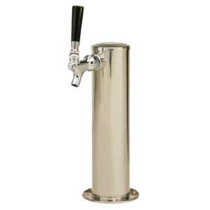 "3"" Column - 1 304 Faucet - Polished Stainless Steel - Glycol Cooled"