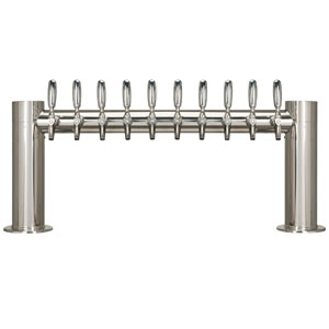 "Metropolis ""H"" - 10 304 Faucets - Polished Stainless Steel - Glycol Cooled"