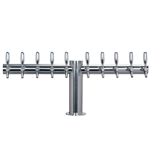 "Metropolis ""T"" - 10 304 Faucets - Polished Stainless Steel - Glycol Cooled"