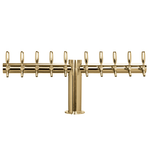 "Metropolis ""T"" - 10 Faucets - PVD Brass - Glycol Cooled"