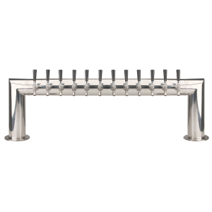 Pass Thru - 12 304 Faucet - Polished Stainless Steel - Glycol Cooled