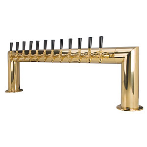 Pass Thru - 12 304 Faucet - PVD Brass - Glycol Cooled