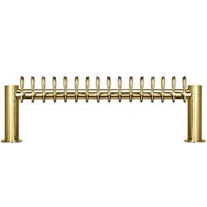 "Metropolis ""H"" - 16 Faucets - PVD Brass - Glycol Cooled"