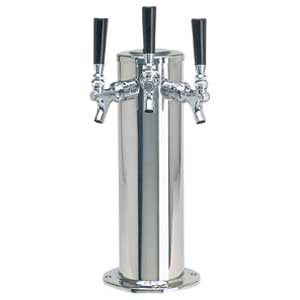 "4"" Column - 3 304 Faucets - Polished Stainless Steel - Glycol Cooled"