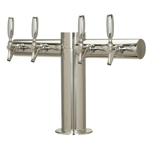 "Metropolis ""T"" - 4 304 Faucets - Polished Stainless Steel - Glycol Cooled"