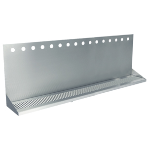 "48"" Stainless Steel Wall Mount Drain Tray - 16 Faucet - 3"" Center"