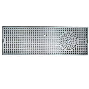 "24"" Stainless Steel Glass Rinser Drain Tray, 4-8 Faucets"