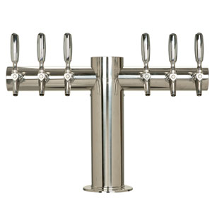 "Metropolis ""T"" - 6 304 Faucets - Polished Stainless Steel - Glycol Cooled"