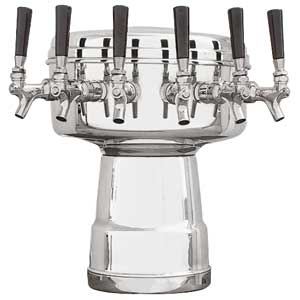 Mushroom Tower - 6 Faucets - Chrome - Glycol Cooled