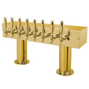 Double Pedestal - 8 304 Faucets - PVD Brass - Glycol Cooled