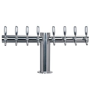 "Metropolis ""T"" - 8 304 Faucets - Polished S/S - Glycol Cooled - 4"" Center"