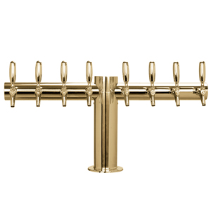 "Metropolis ""T"" - 8 304 Faucets - PVD Brass - Glycol Cooled - 4"" Center"