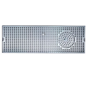 "30"" Stainless Steel Glass Rinser Drain Tray, 8-10 Faucets"
