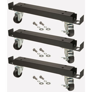 3 Channel Bars with 6 Casters