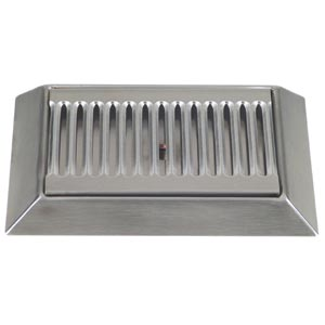 "9"" Stainless Steel Bevel Edge Drip Tray, With Drain"