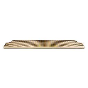 "46"" Stainless Steel Tray with PVD Grid Surface Mount Drain Tray w/ Drain"