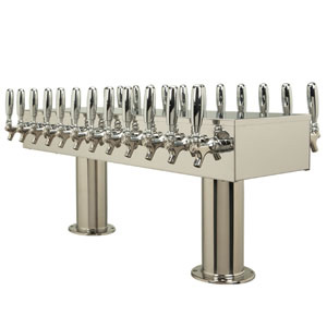 Double Service Tower - 24 304 Faucets - Polished Stainless Steel - Glycol Cooled