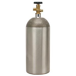 15 lb. Aluminum CO2 Cylinder, Empty