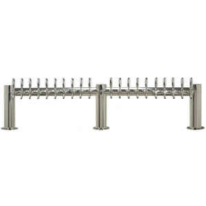 "Metropolis ""M"" - 20 304 Faucets - Polished Stainless Steel - Glycol Cooled"