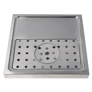 "15-3/4"" Stainless Steel Glass Rinser Drain Tray, 1-2 Faucets"