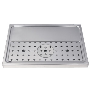 "23-5/8"" Stainless Steel Glass Rinser Drain Tray, 2-4 Faucets"