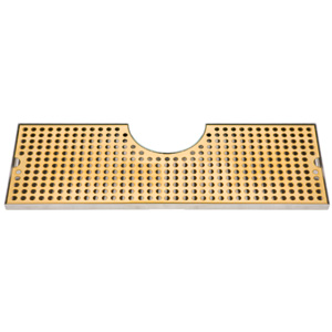 "34"" Stainless Steel Tray with PVD Grid Surface Mount"