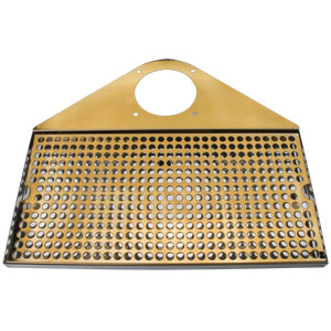Draft Beer Tower Drip Tray, SS/PVD Brass, With Drain