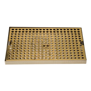 "Surface Mount Drip Tray, 12"" x 8"", Stainless Steel Tray with PVD Grid"