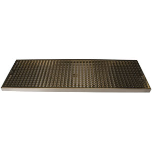 "Surface Mount Drip Tray, 24"" x 8"", Stainless Steel Tray with PVD Grid"