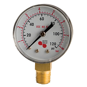 0-120 lb Regulator Gauge