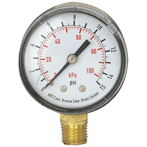 0-15 lb Regulator Gauge