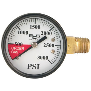 0-3000 lb Regulator Gauge