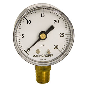 0-30 lb. Regulator Gauge
