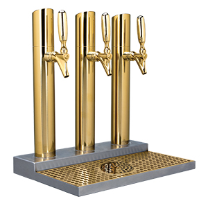 Skyline Beer Station, 3 Faucet, Stainless Steel, PVD Brass