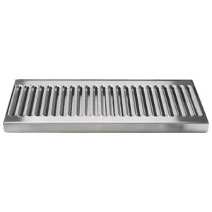 "12"" Stainless Steel Surface Mount Drain Tray, w/ Drain"