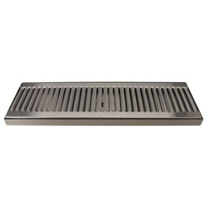 "16"" Stainless Steel Surface Mount Drain Tray, w/ Drain"