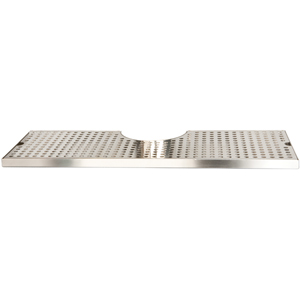 "18"" Surface Mount Cut-Out Drain Tray, 4"" Column"