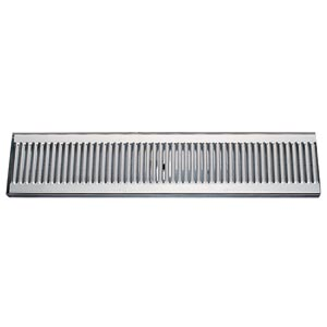 "20"" Stainless Steel Surface Mount Drain Tray, w/ Drain"