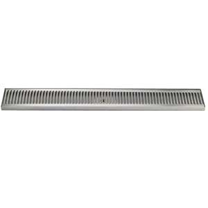 "33"" Stainless Steel Surface Mount Drain Tray, w/ Drain"