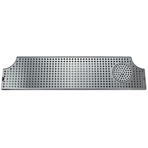 "34"" Stainless Steel Surface Mount w/ Glass Rinser"