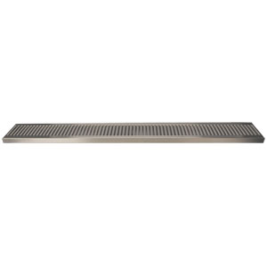 "36"" Stainless Steel Surface Mount Drain Tray, w/ Drain"