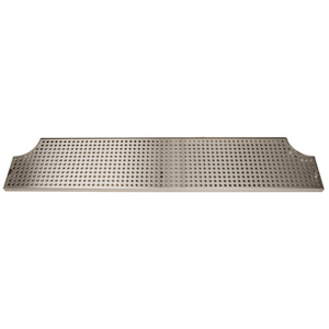 "40"" Stainless Steel Surface Mount Drain Tray w/ Drain"