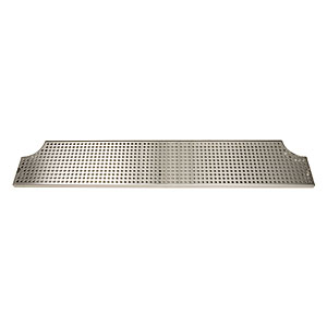 "46"" Stainless Steel Surface Mount Drip Tray w/ Drain"