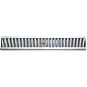 "51"" Stainless Steel Surface Mount Drain Tray, w/ Drain"