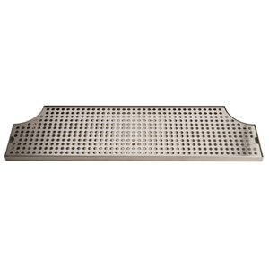 "52"" Stainless Steel Surface Mount Drain Tray w/ Drain"